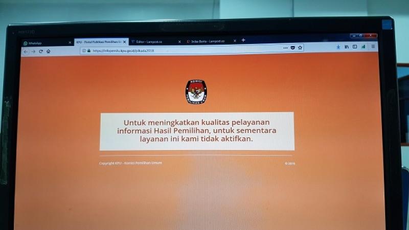 Quick Qount C1 di Web KPU RI Tak Bisa Diakses