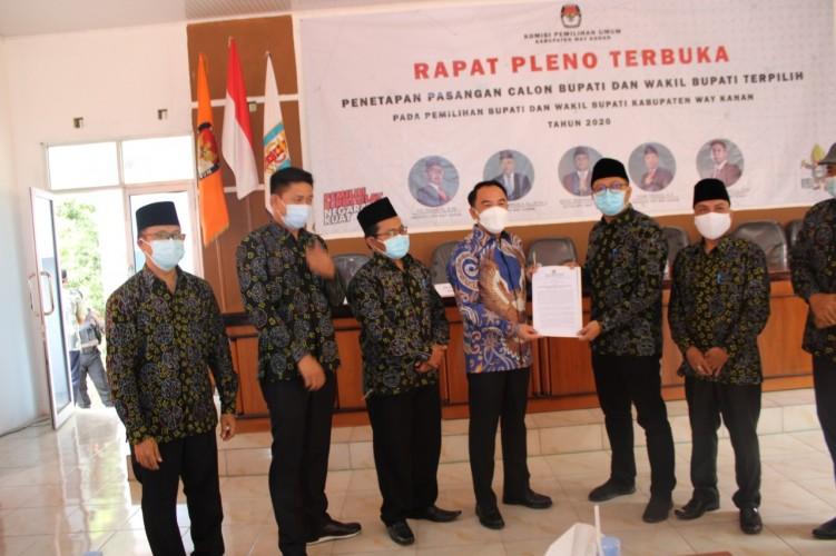 Raden Adipati-Ali Rahman Ditetapkan sebagai Bupati dan Wakil Bupati Terpilih