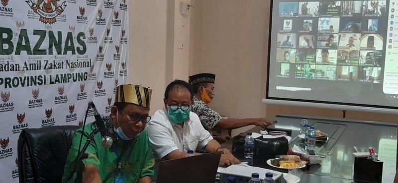 Rakerda Virtual Baznas Lampung Hadirkan Tiga Rektor dan Ketua MUI