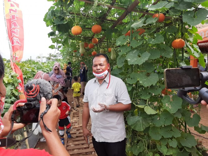 Taman Agrowisata Kebun Melon Unila Ramai Pengunjung