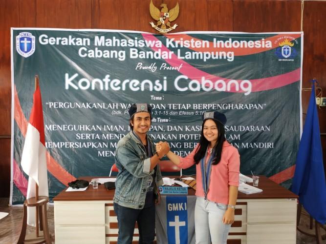 Ranto Pasaribu-Dewi Simanungkalit Pimpin GMKI Bandar Lampung