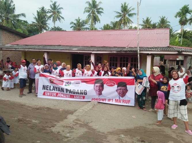 Ratusan Keluarga Nelayan di Padang Dukung Jokowi-Amin