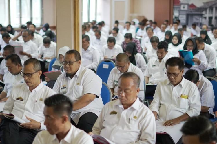 Ratusan Pejabat Adiministrator Pemkab Lamsel Uji Kompetensi Jabatan