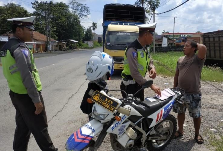 Ratusan Pengendara di Tulangbawang Terjaring Operasi Keselamatan Krakatau