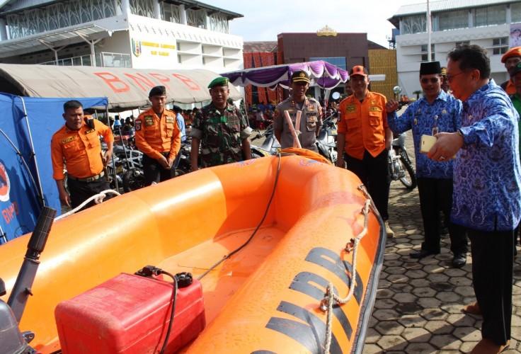Ratusan Personel Gabungan Ikuti Apel Siaga Bencana di Way Kanan