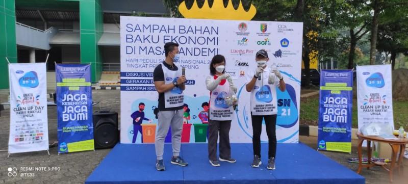 Ratusan Peserta Ikuti <i>Clean Up Day</i> HPSN 2021 Provinsi Lampung