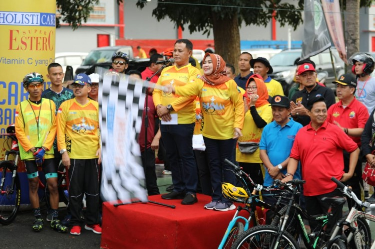 Ratusan Peserta Ramaikan Touring Bike Festival Kalianda 2019