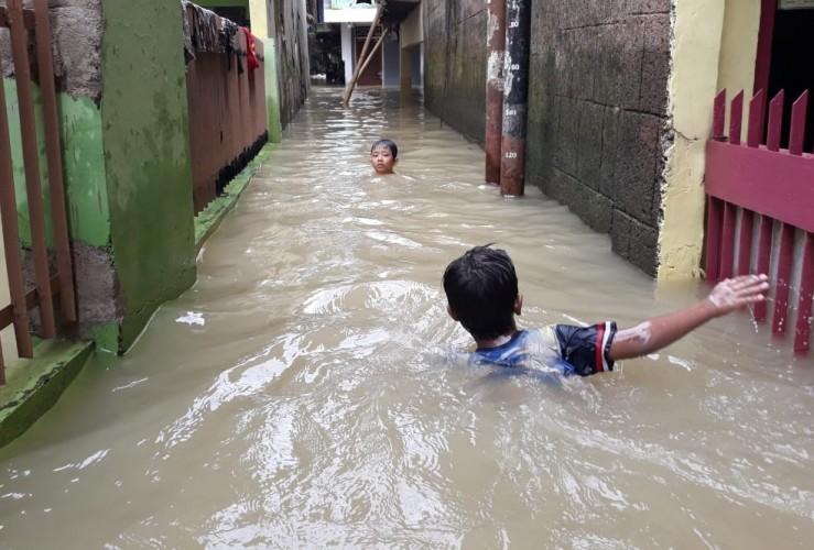 Ratusan RT di Jakarta Tergenang Banjir
