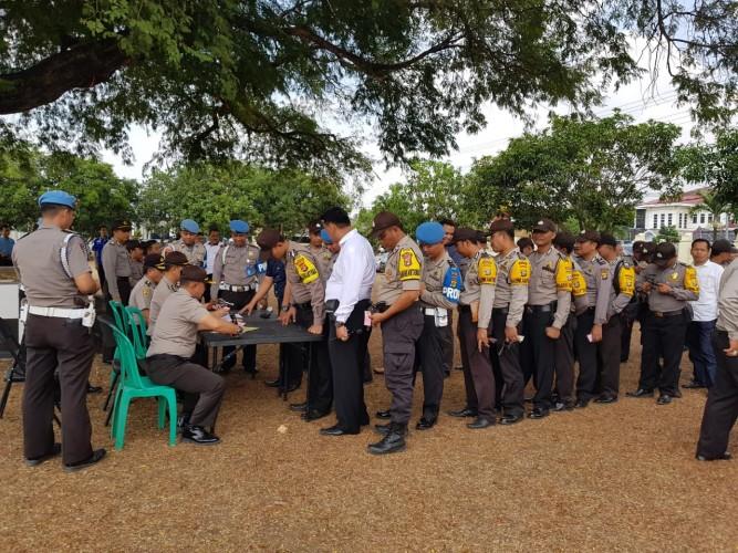 Ratusan Senpi Anggota Polres Lamteng Diperiksa Polda