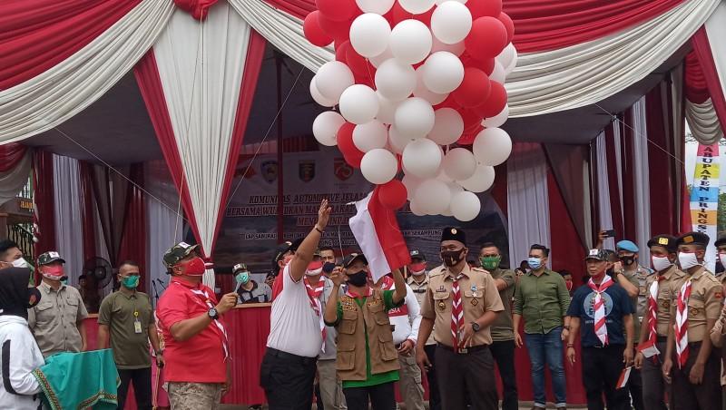 Rayakan HUT RI, Polda Jelajah Lampung Serta Bakti Sosial