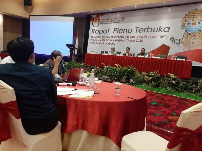 Rekapitulasi DPT Pilkada Bandar Lampung Berlangsung Alot