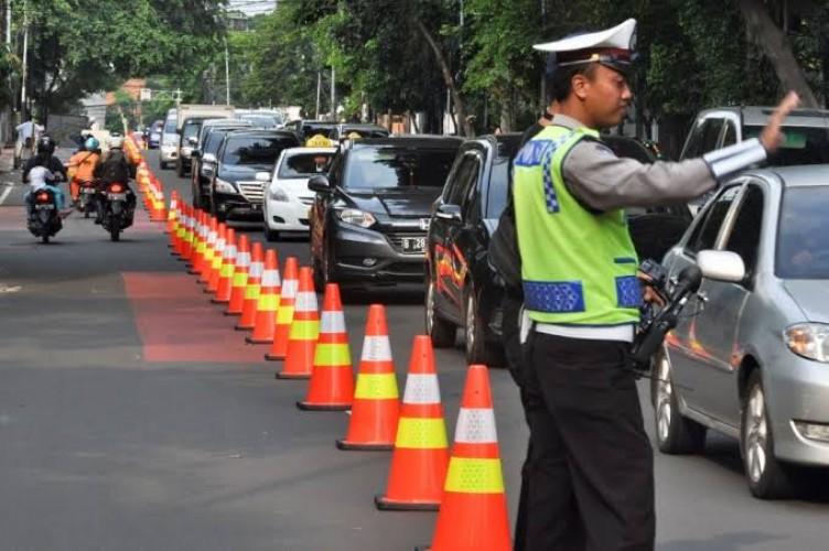 Rekayasa Lalu Lintas Imbas Unjuk Rasa di Jakarta