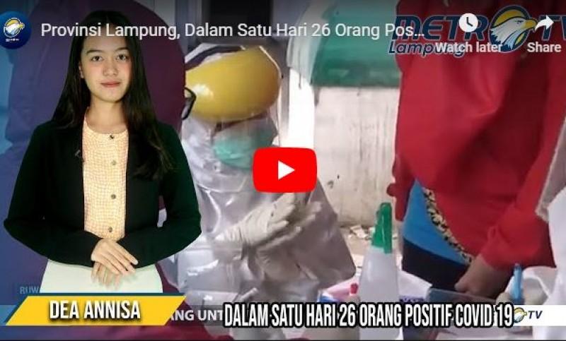 Rekor! Kasus Covid-19 di Lampung Bertambah 26 dalam Sehari
