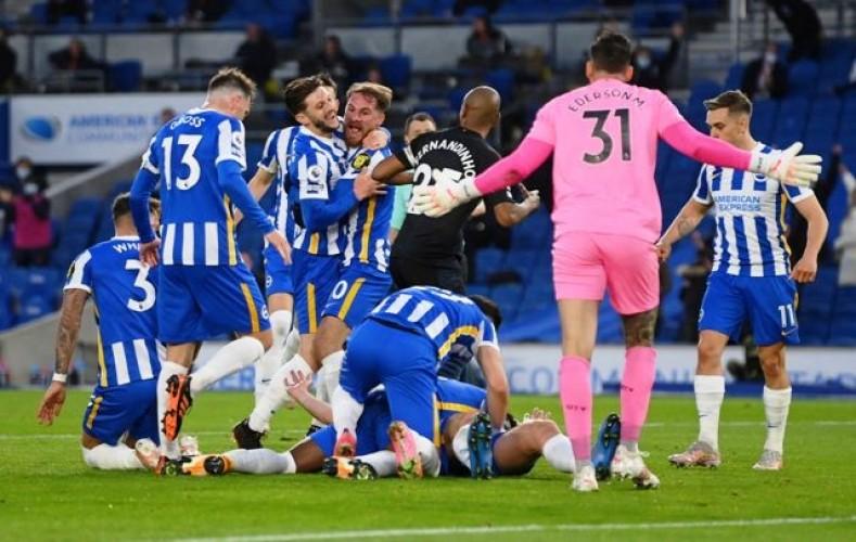 Rekor Kemenangan Tandang City Berhenti di Kandang Brighton