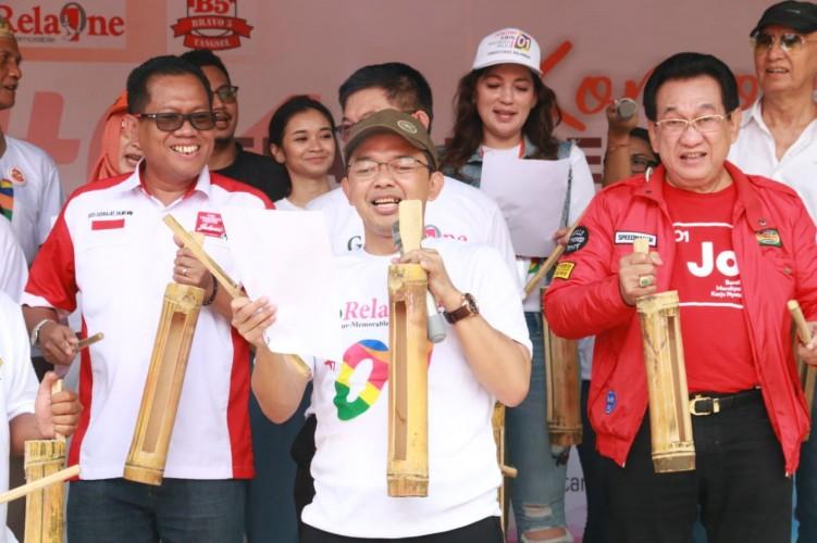 Relawan Bunyikan Kentongan Rebut Kemenangan Jokowi Amin di Banten