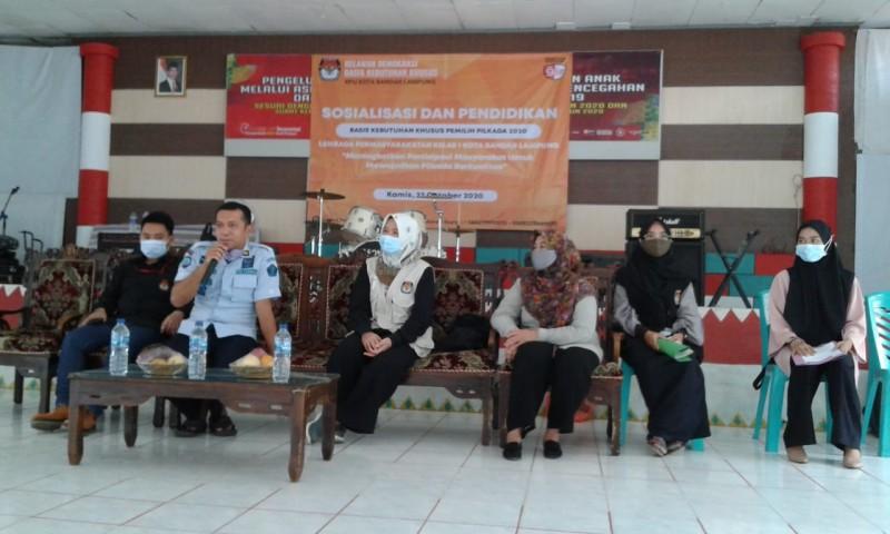 Relawan Demokrasi Gelar Sosialisasi ke Napi di Lapas Rajabasa