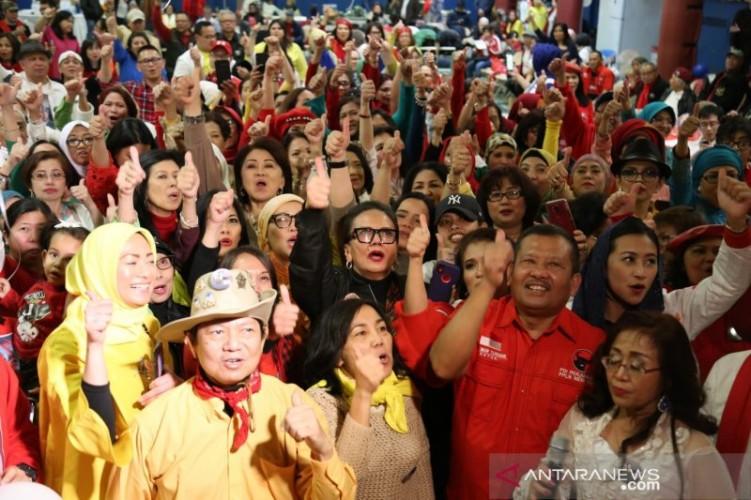 Relawan Jokowi di New York Rayakan Pesta Demokrasi