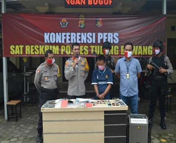 Residivis Curanmor Lintas Kabupaten Dibekuk Polres Tulangbawang