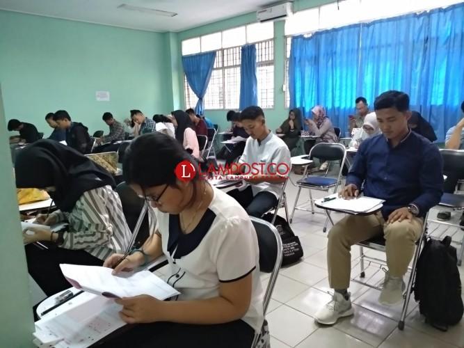 Ribuan Peserta SMMPTN Unila Laksanakan Ujian Tertulis