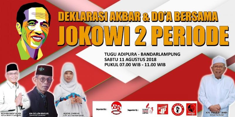 Ribuan Relawan Pemenangan Jokowi - Ma'ruf Amin GelarGelar Doa Bersama Besok
