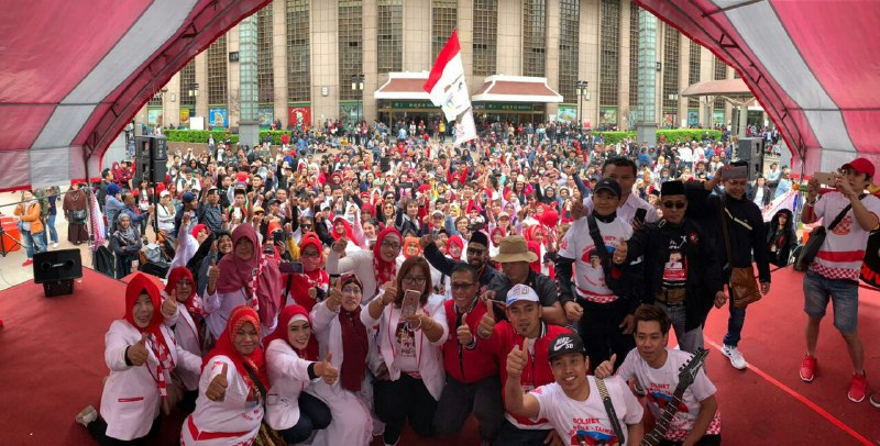 Ribuan WNI di Taiwan NyatakanSikap Dukung Penuh Jokowi-Amin