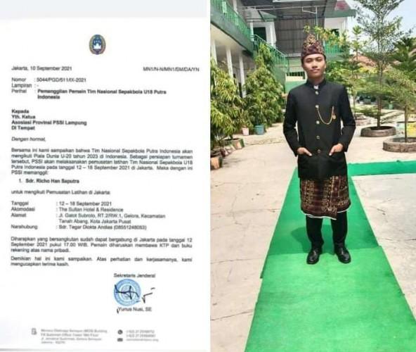 Richo Hans Terpilih Wakili Metro di Skuad Timnas U-18