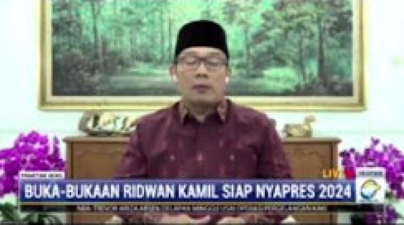 Ridwan Kamil Tunggu Pinangan Partai untuk Maju Pilpres 2024