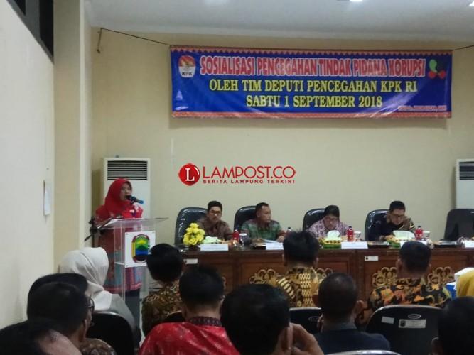 RSUD Bob Bazar Gandeng KPK Sosialisasi Pencegahan Tindak Pidana Korupsi