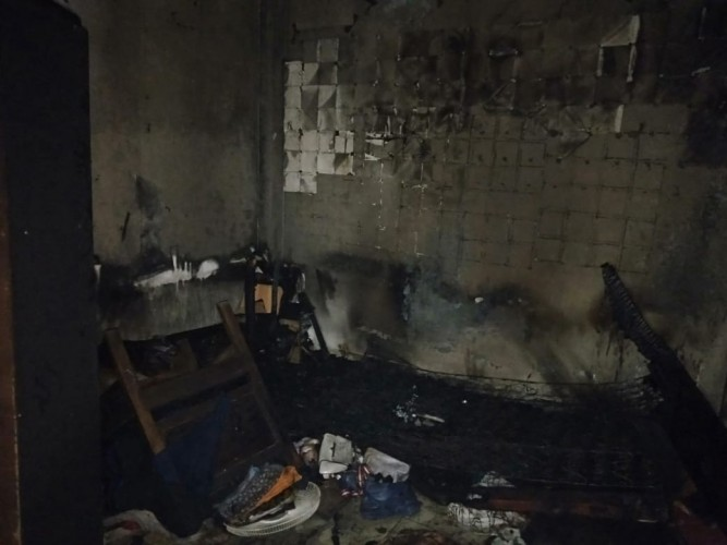 Rumah Makan di Pringsewu Terbakar