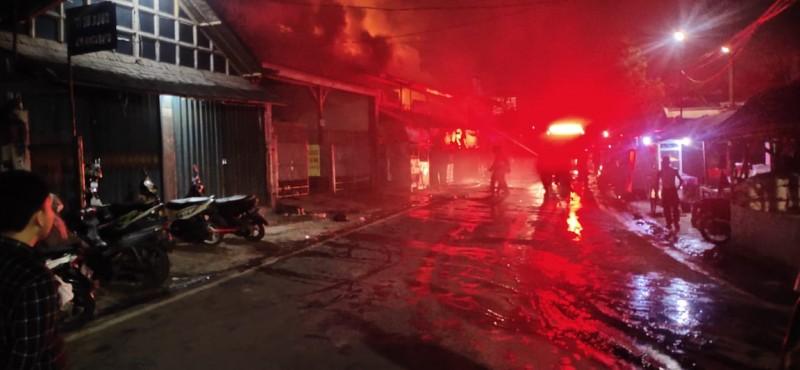 Rumah Penjual Degan di Bandar Lampung Terbakar