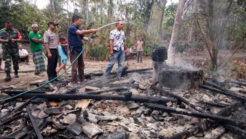 Rumah Produksi Tahu di Palas Ludes Terbakar