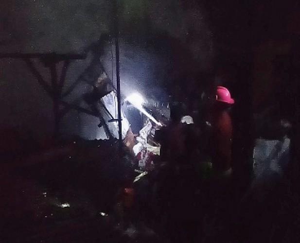 Rumah Semipermanen di Sumurbatu Terbakar
