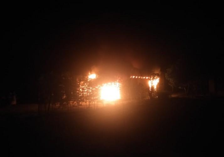 Rumah Warga Banjarnegeri Natar Terbakar, Kerugian Ditaksir Rp300 Juta