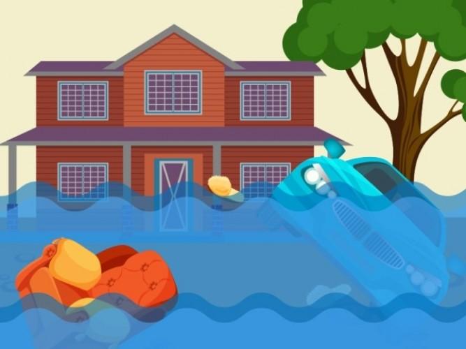 Rumah Warga di Pekon Sukarame Terendam Banjir
