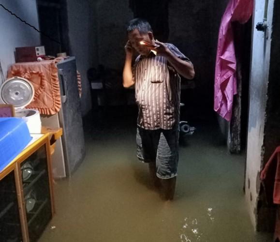 Rumah Warga Kecamatan Way Kerui Terendam