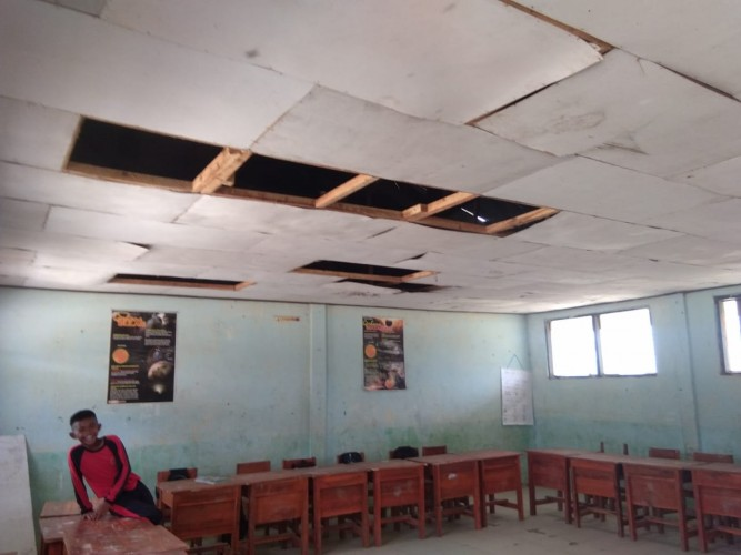 Rusak Parah, SDN 1 Mesuji Timur Kondisinya Membahayakan Pelajar