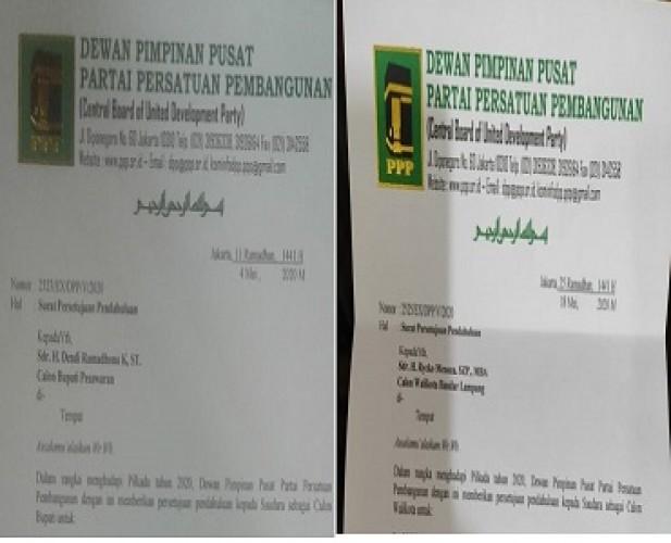 Rycko dan Dendi Terima Surat Tugas PPP untuk Pilkada Serentak