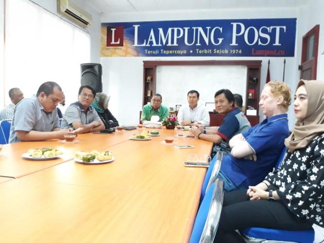 Rycko Sambangi Lampost Kenalkan Tagline Bandar Lampung Baru