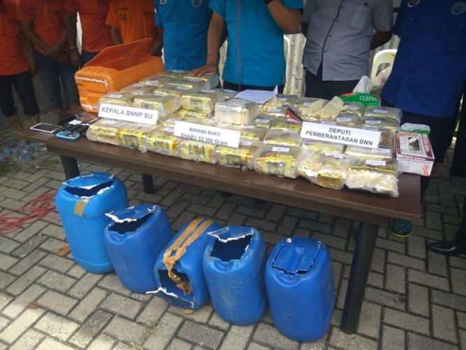 Sabu Dominasi Penyelendupan Narkoba ke Indonesia