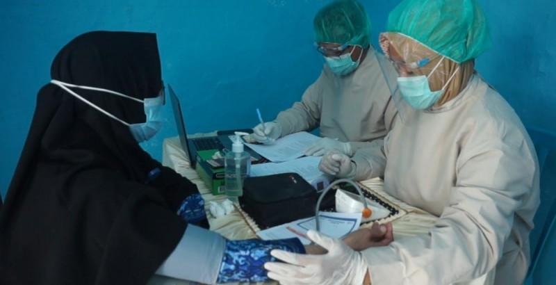 Sakit Tunda Vaksinasi Dua Nakes di Palas