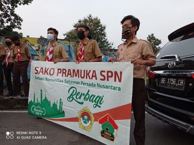 Sako Pramuka SPN Lampung Galang Dana untuk Korban Bencana