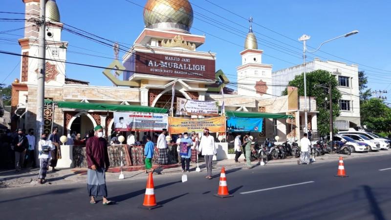 Salat Id di Masjid Jami Al Muballigh Dikawal Ketat Kepolisian