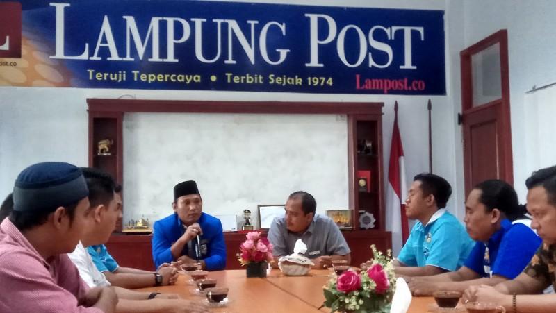 Sambangi Lampung Post, KNPI Bandar Lampung Bawa Pesan Pemuda