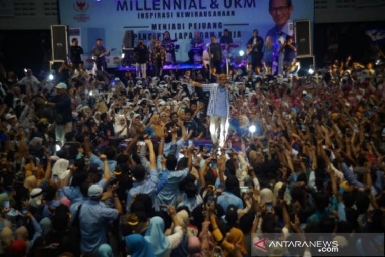 Sandiaga Janjikan Buka Lapangan Kerja untuk Milenial