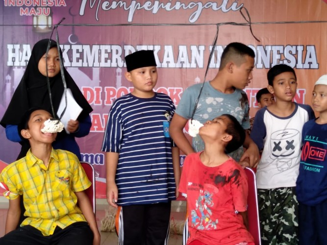 Santri Yatim Semangat Rayakan HUT Kemerdekaan