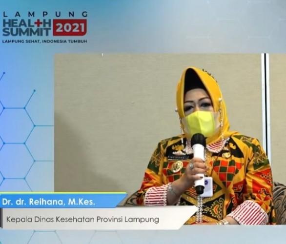 Satgas Covid-19 dalam <i>Lampung Health Summit</i>: 70% Vaksinasi Syarat Menuju Endemi