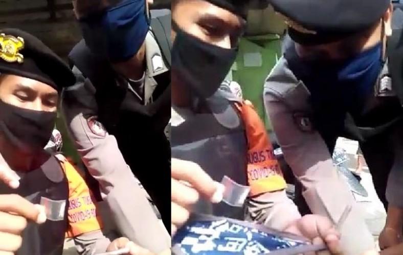 Satgas Covid-19 Dapati Pria Bawa SabuSaat Razia Masker