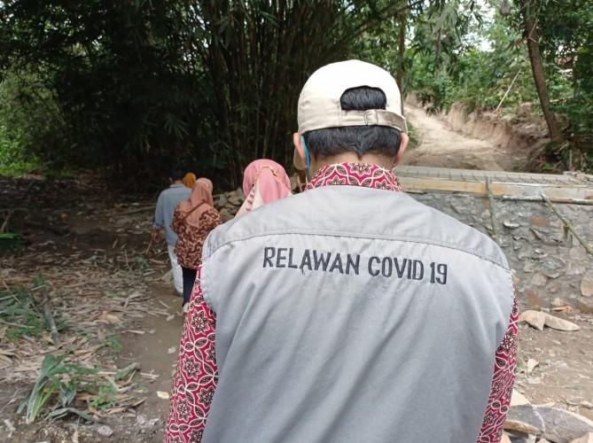 Satgas Covid-19 di Natar Kampanye Prokes Langsung ke Rumah Warga