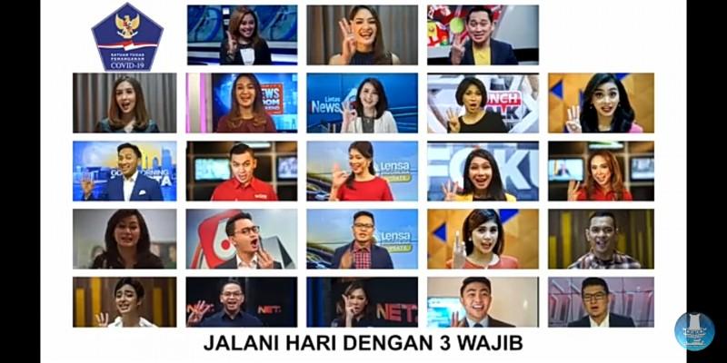 Satgas Covid-19 Gandeng 23 Presenter TV Luncurkan Mars Iman-Imun-Aman