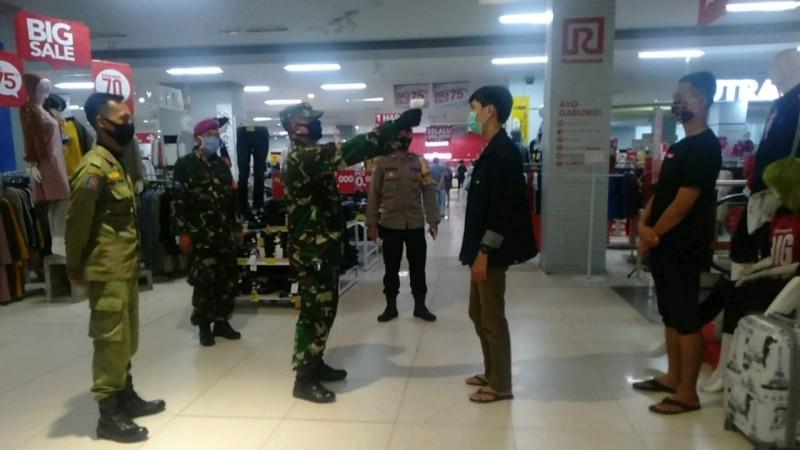 Satgas Covid 19 Kota Bandar Lampung Terapkan 3M di Mall
